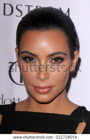 LOS ANGELES - OCT 9:  Kim Kardashian West at the Charlotte Tilbury Makeup Your Destiny Beauty Festival at The Grove on October 9, 2014 in Los Angeles, CA - stock photo