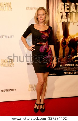 """LOS ANGELES- OCT 17: Kristanna Loken arrives at the """"Death Valley"""" film premiere Oct. 17, 2015 at Raleigh Studios in Los Angeles, CA. - stock photo"""