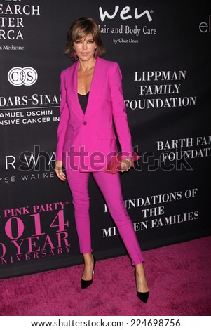 LOS ANGELES - OCT 18:  Lisa Rinna at the Pink Party 2014 at Hanger 8 on October 18, 2014 in Santa Monica, CA - stock photo