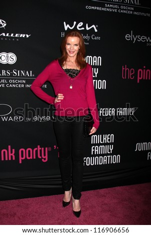"LOS ANGELES - OCT 26:  Marcia Cross arrives at ""The Pink Party '12"" at Hanger 8 on October 26, 2012 in Santa Monica, CA - stock photo"