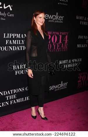 LOS ANGELES - OCT 18:  Marcia Cross at the Pink Party 2014 at Hanger 8 on October 18, 2014 in Santa Monica, CA