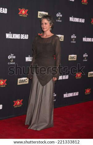 "LOS ANGELES - OCT 2:  Melissa McBride at the ""The Walking Dead"" Season 5 Premiere at Universal City Walk on October 2, 2014 in Los Angeles, CA - stock photo"