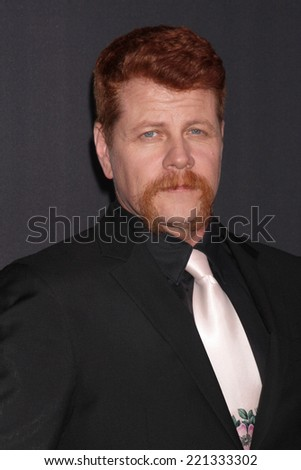 "LOS ANGELES - OCT 2:  Michael Cudlitz at the ""The Walking Dead"" Season 5 Premiere at Universal City Walk on October 2, 2014 in Los Angeles, CA - stock photo"