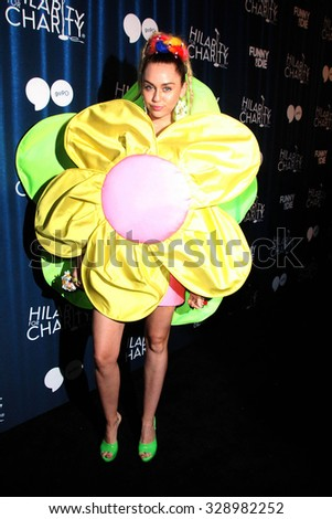 LOS ANGELES - OCT 17:  Miley Cyrus at the Hilarity for Charity`s James Franco`s Bar Mitzvah at the Hollywood Paladium on October 17, 2015 in Los Angeles, CA - stock photo
