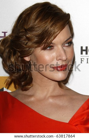 LOS ANGELES - OCT 25:  Milla Jovovich  arrives at the 14th Annual Hollywood Awards Gala at Beverly Hilton Hotel on October 25, 2010 in Beverly Hills, CA