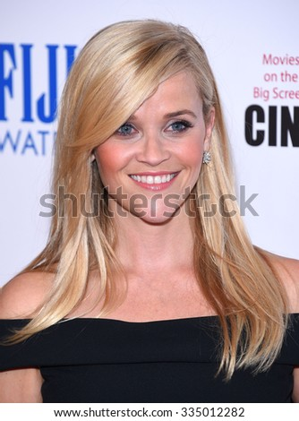 LOS ANGELES - OCT 30:  Reese Witherspoon arrives to the American Cinematheque honors Reese Witherspoon  on October 30, 2015 in Hollywood, CA.                 - stock photo