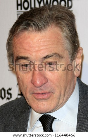 LOS ANGELES - OCT 22:  Robert DeNiro arrives at  the 2012 Hollywood Film Festival Gala at Beverly Hilton Hotel on October 22, 2012 in Beverly Hills, CA