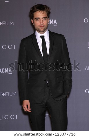 LOS ANGELES - OCT 27:   Robert Pattinson arrives to the LACMA hosts 2012 Art + Film Gala  on October 27, 2012 in Los Angeles, CA