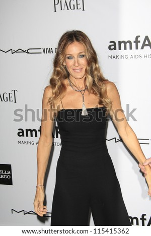 LOS ANGELES - OCT 11: Sarah Jessica Parker at amfAR's Inspiration Gala at Milk Studios on October 11, 2012 in Los Angeles, California.