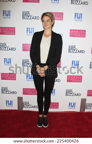 "LOS ANGELES - OCT 21:  Shailene Woodley at the ""White Bird in a Blizzard"" LA Premiere at Arclight Hollywood on October 21, 2014 in Los Angeles, CA - stock photo"