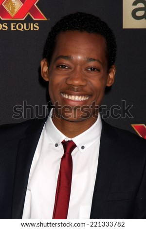 "LOS ANGELES - OCT 2:  Tyler James Williams at the ""The Walking Dead"" Season 5 Premiere at Universal City Walk on October 2, 2014 in Los Angeles, CA - stock photo"