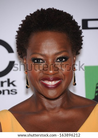 LOS ANGELES - OCT 21:  Viola Davis arrives to Hollywood Film Awards Gala 2013  on October 21, 2013 in Beverly Hills, CA                 - stock photo