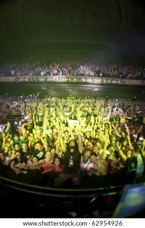 LOS ANGELES - OCTOBER 9: Bassnectar performs onstage at the Wiltern Theater 2010 October 9, 2010 in Los Angeles, CA. - stock photo