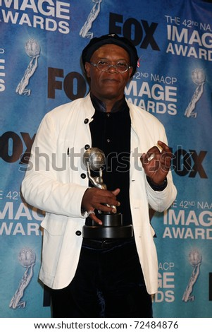 LOS ANGELES -  4: Samuel L. Jackson in the Press Room of the 42nd NAACP Image Awards at Shrine Auditorium on March 4, 2011 in Los Angeles, CA - stock photo
