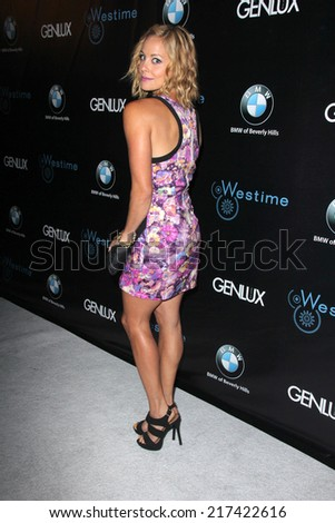 LOS ANGELES - SEP 14:  Amy Paffrath at the Genlux Rodeo Drive Festival of Watches and Jewelry at Rodeo Drive on September 14, 2014 in Beverly Hills, CA - stock photo