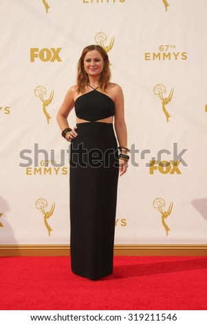 LOS ANGELES - SEP 20:  Amy Poehler at the Primetime Emmy Awards Arrivals at the Microsoft Theater on September 20, 2015 in Los Angeles, CA - stock photo