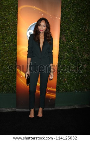 LOS ANGELES - SEP 28:  Ashley Madekwe arrives at the ABC Sunday Night Event at Lexington Social Club on September 28, 2012 in Los Angeles, CA - stock photo