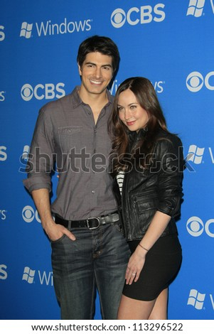 LOS ANGELES - SEP 18: Brandon Routh, Courtney Ford at the CBS 2012 Fall Premiere party at Greystone Manor on September 18, 2012 in Los Angeles, California - stock photo