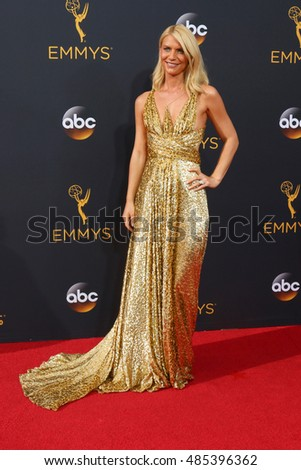 LOS ANGELES - SEP 18:  Claire Danes at the 2016 Primetime Emmy Awards - Arrivals at the Microsoft Theater on September 18, 2016 in Los Angeles, CA