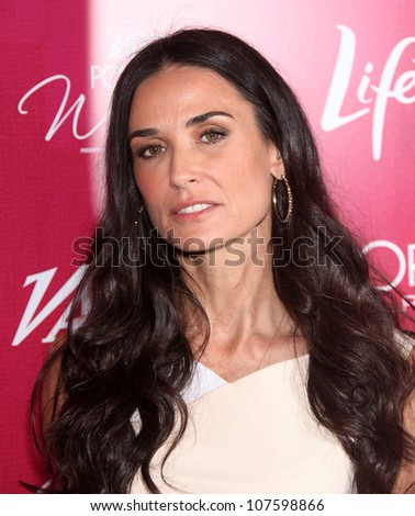 LOS ANGELES - SEP 23:  Demi Moore arrives to the Varietys 2011 Power of Women  on September 23, 2011 in Beverly Hills, CA - stock photo