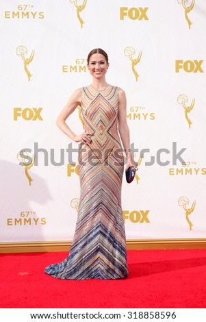 LOS ANGELES - SEP 20:  Ellie Kemper at the Primetime Emmy Awards Arrivals at the Microsoft Theater on September 20, 2015 in Los Angeles, CA - stock photo