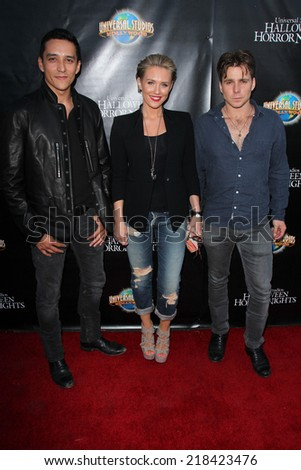 LOS ANGELES - SEP 18:  Gabriel Luna, Nicky Whelan, Lukas Nelson at the Universal Studio's Halloween Horror Nights 2014 Eyegore Award at Universal Studios on September 18, 2014 in Los Angeles, CA