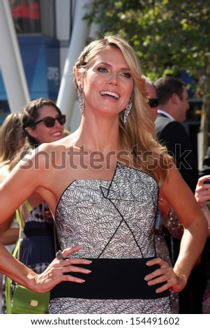 LOS ANGELES - SEP 15:  Heidi Klum at the Creative Emmys 2013 - Arrivals at Nokia Theater on September 15, 2013 in Los Angeles, CA - stock photo