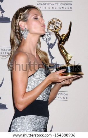 LOS ANGELES - SEP 15:  Heidi Klum at the Creative Emmys 2013 - Press Room at Nokia Theater on September 15, 2013 in Los Angeles, CA - stock photo