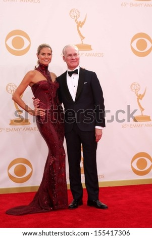 LOS ANGELES - SEP 22:  Heidi Klum, Tim Gunn at the  at Nokia Theater on September 22, 2013 in Los Angeles, CA - stock photo