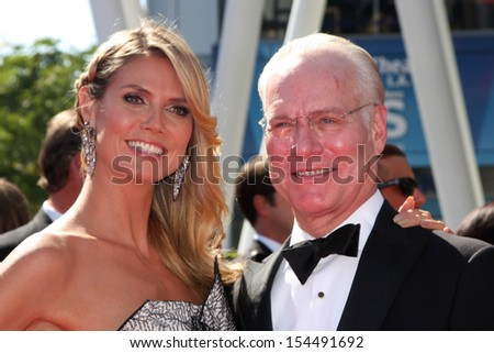 LOS ANGELES - SEP 15:  Heidi Klum, Tim Gunn at the Creative Emmys 2013 - Arrivals at Nokia Theater on September 15, 2013 in Los Angeles, CA - stock photo