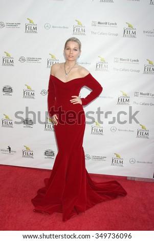 LOS ANGELES - SEP 25:  Irinia Ugolnikova at the Catalina Film Festival Friday Evening Gala at the Avalon Theater on September 25, 2015 in Avalon, CA - stock photo