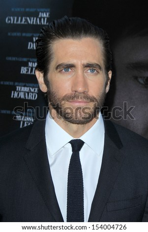 "LOS ANGELES - SEP 12:  Jake Gyllenhaal at the ""Prisoners"" World Premiere at Academy of Motion Picture Arts and Sciences on September 12, 2013 in Beverly Hills, CA - stock photo"