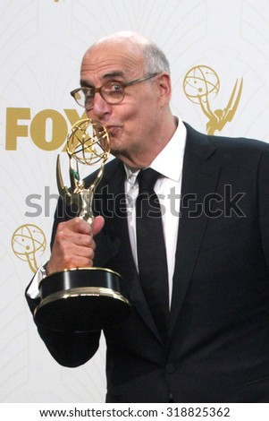 LOS ANGELES - SEP 20:  Jeffrey Tambor at the Primetime Emmy Awards Press Room at the Microsoft Theater on September 20, 2015 in Los Angeles, CA - stock photo
