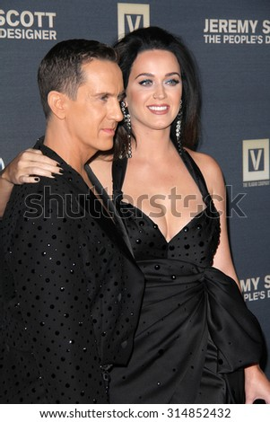"LOS ANGELES - SEP 8:  Jeremy Scott, Katy Perry at the ""Jeremy Scott: The People's Designer"" World Premiere at the TCL Chinese Theater on September 8, 2015 in Los Angeles, CA"