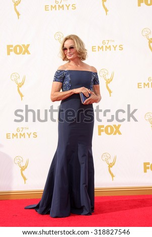LOS ANGELES - SEP 20:  Jessica Lange at the Primetime Emmy Awards Arrivals at the Microsoft Theater on September 20, 2015 in Los Angeles, CA - stock photo