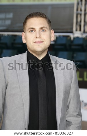 """LOS ANGELES - SEP 19:  Jonah Hill arrives at the """"Moneyball"""" World Premiere at Paramount Theater of the Arts on September 19, 2011 in Oakland, CA - stock photo"""