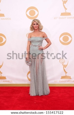 LOS ANGELES - SEP 22:  Julianne Hough at the  at Nokia Theater on September 22, 2013 in Los Angeles, CA - stock photo