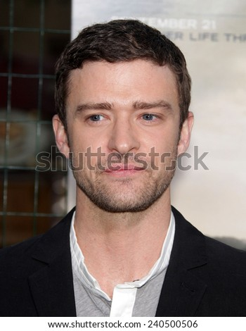 """LOS ANGELES - SEP 19:  Justin Timberlake arrives to """"Trouble With The Curve"""" Los Angeles Premiere  on September 19, 2012 in Westwood, CA                 - stock photo"""
