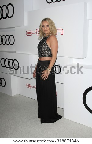 LOS ANGELES - SEP 17:  Lindsey Vonn at the Audi Celebrates Emmys Week 2015 at the Cecconi's on September 17, 2015 in West Hollywood, CA - stock photo