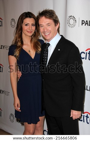 LOS ANGELES - SEP 8:  Nasim Pedrad, Martin Short at the Paley Center For Media's PaleyFest 2014 Fall TV Previews - FOX at Paley Center For Media on September 8, 2014 in Beverly Hills, CA - stock photo