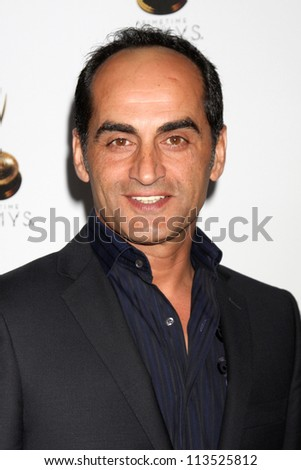 LOS ANGELES - SEP 21:  Navid Negahban arrives at the Primetime Emmys Performers Nominee Reception at Spectra by Wolfgang Puck on September 21, 2012 in Los Angeles, CA - stock photo