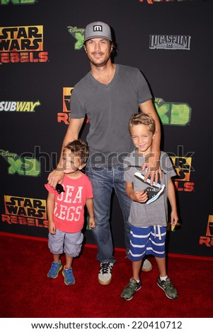 "LOS ANGELES - SEP 27:  Oliver Hudson at the ""Star Wars Rebels"" Premiere Screening at AMC Century City on September 27, 2014 in Century City, CA - stock photo"