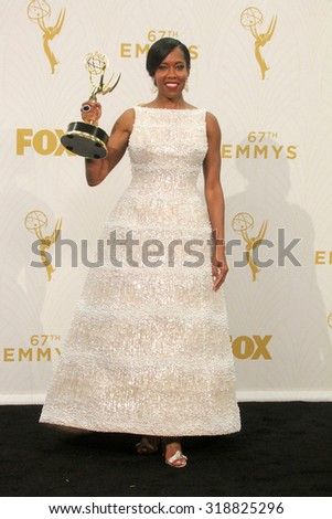 LOS ANGELES - SEP 20:  Regina King at the Primetime Emmy Awards Press Room at the Microsoft Theater on September 20, 2015 in Los Angeles, CA - stock photo