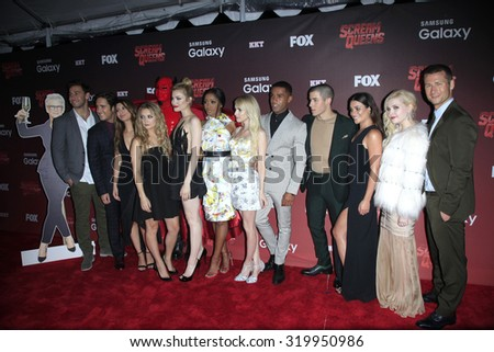 "LOS ANGELES - SEP 21:  Scream Queens Cast at the Premiere of FOX TV's ""Scream Queens"" at the Wilshire Ebell Theater on September 21, 2015 in Los Angeles, CA - stock photo"