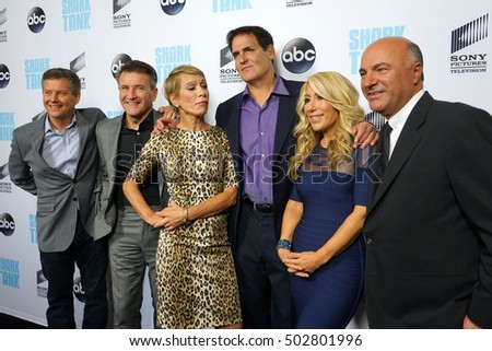 "LOS ANGELES - SEP 23:  Sharks at the ""Shark Tank"" Season 8 Premiere at Viceroy L'Ermitage Beverly Hills on September 23, 2016 in Beverly Hills, CA"