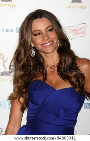LOS ANGELES - SEP 16:  Sofia Vergara 63rd Primetime Emmy Awards PERFORMERS NOMINEE RECEPTION at SPECTRA by Wolfgang Puck on September 16, 2011 in Los Angeles, CA - stock photo