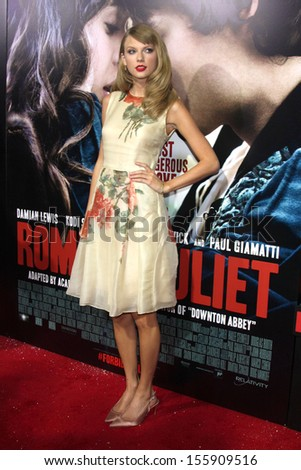 LOS ANGELES - SEP 24:  Taylor Swift at the Romeo & Juliet Premiere at ArcLight Hollywood Theaters on September 24, 2013 in Los Angeles, CA - stock photo