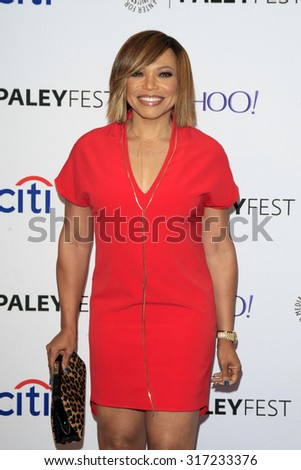 LOS ANGELES - SEP 12:  Tisha Campbell Martin at the PaleyFest 2015 Fall TV Preview - ABC at the Paley Center For Media on September 12, 2015 in Beverly Hills, CA - stock photo