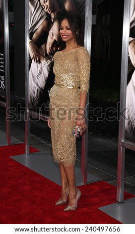 "LOS ANGELES - SEP 12:  Zoe Saldana arrives to the ""The Words"" Premiere  on September 12, 2012 in Hollywood, CA                 - stock photo"