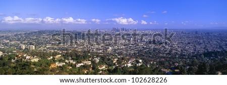 Los Angeles Skyline, California - stock photo